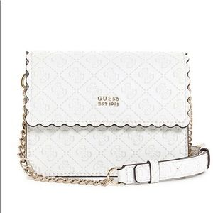 Guess Rayna White and Gold Crossbody